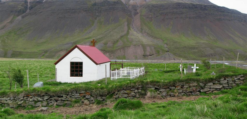 Ábæjarkirkja was built in 1922.