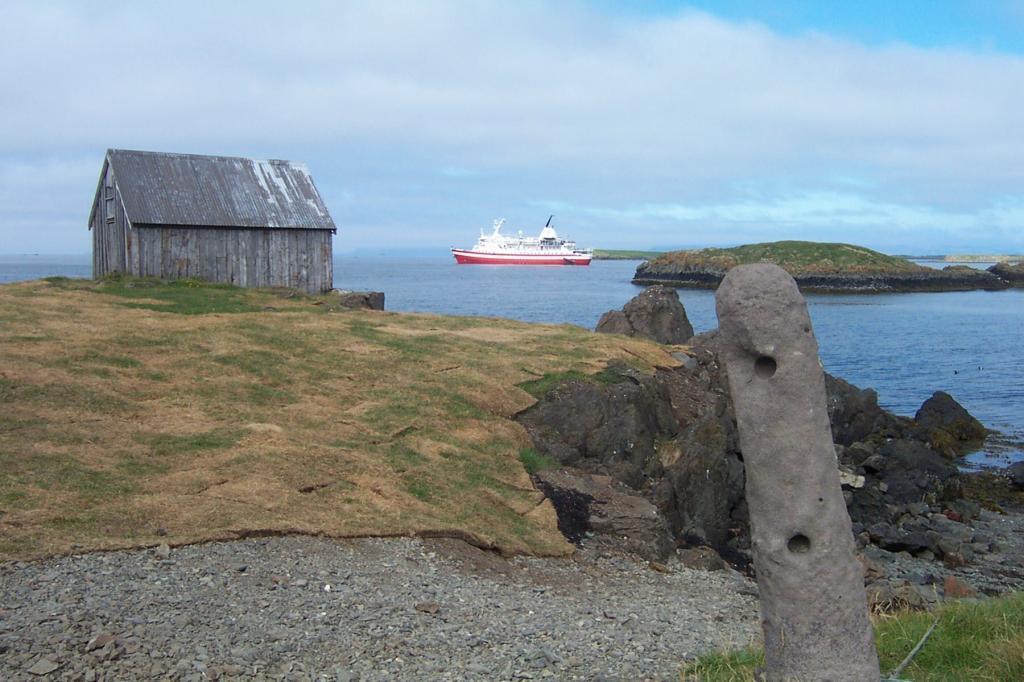 "The ferry ""Baldur"" took us to Flatey island. We didn´t want to leave."