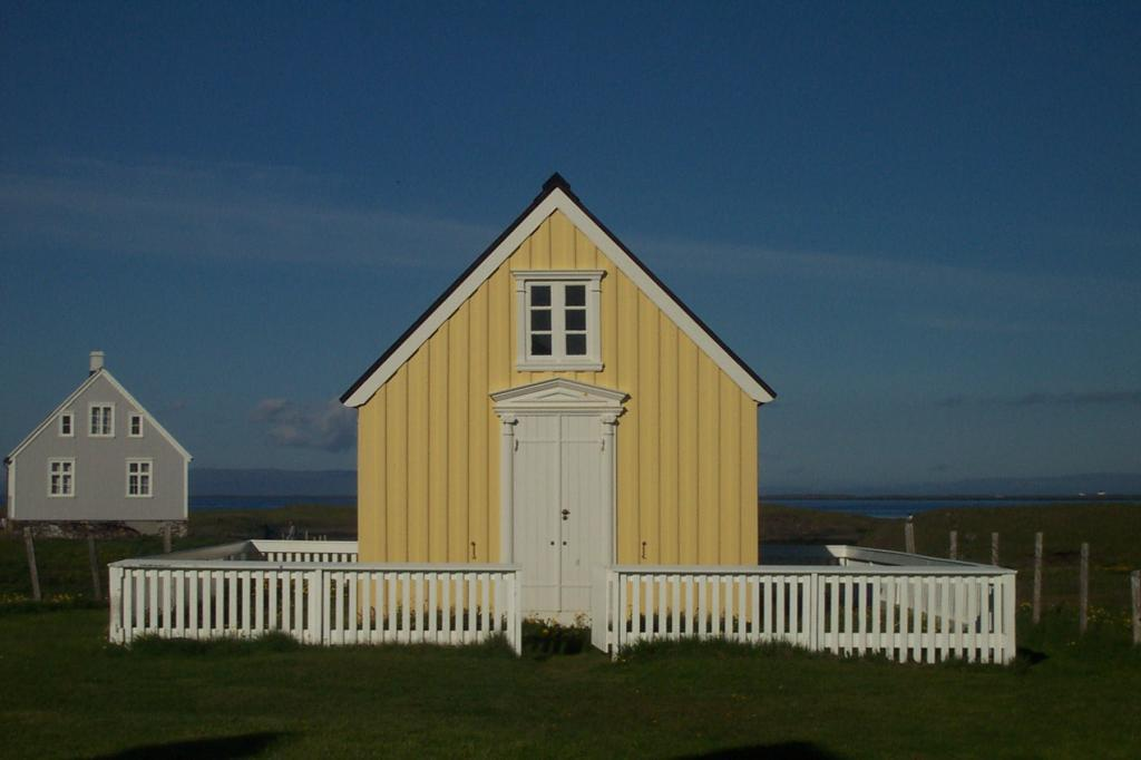 The old library at Flatey island.