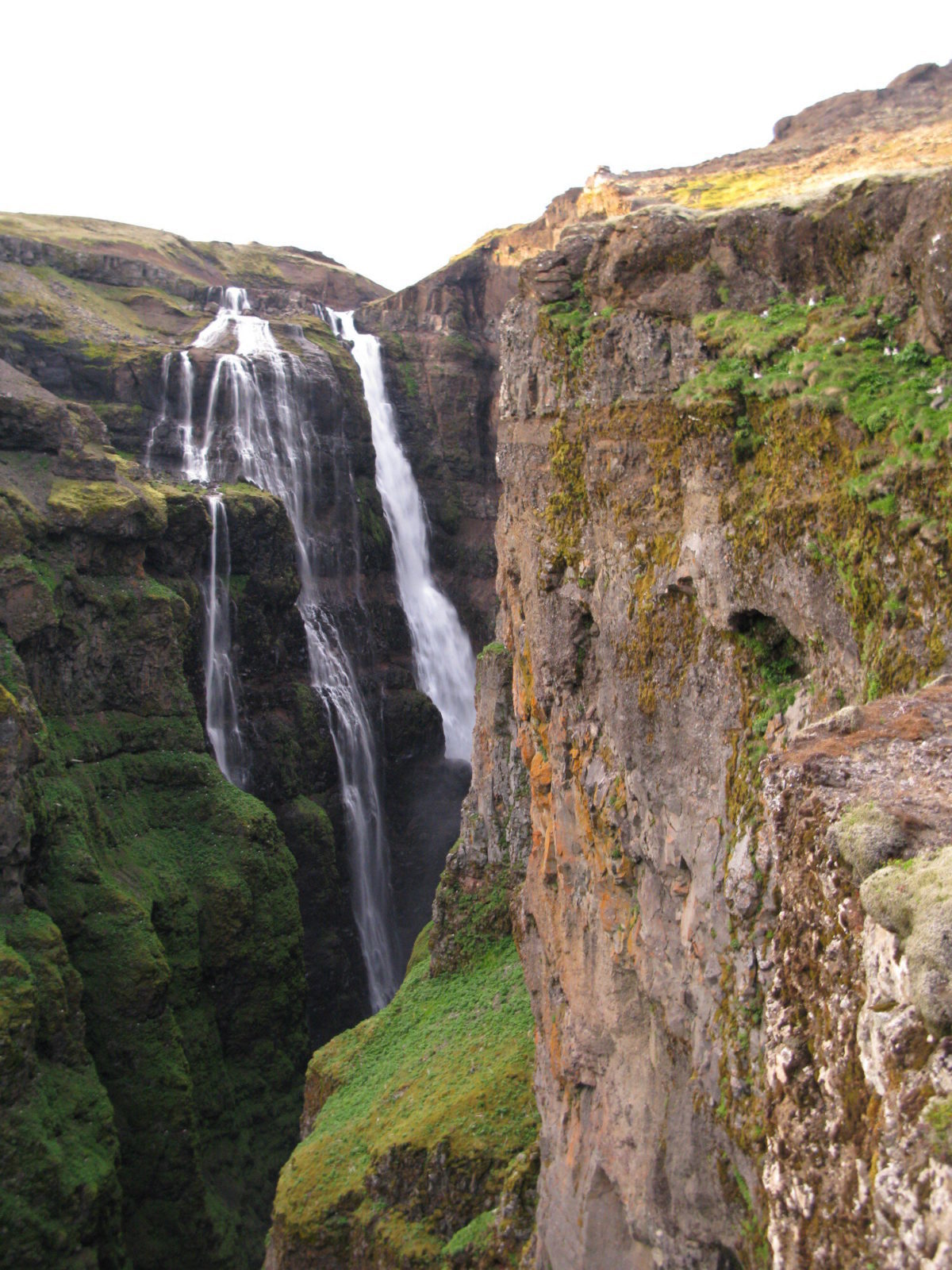 Glymur waterfall is pretty impressive