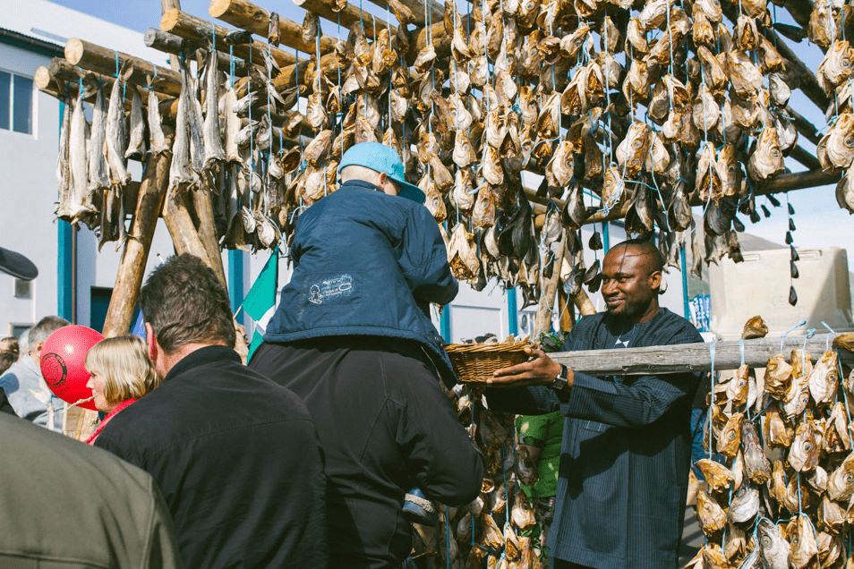 Dried fish is a delicacy. But not appreciated by all !