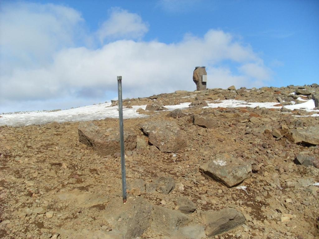 The top of Þverfellshorn at Mt. Esja