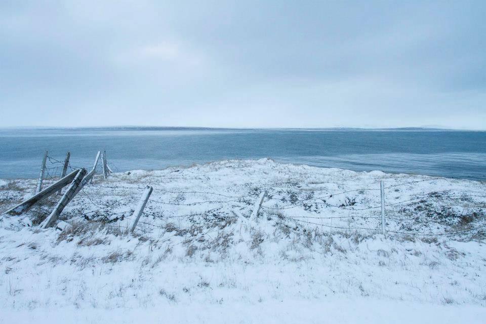 Thorshöfn in Langanes in deep winter.