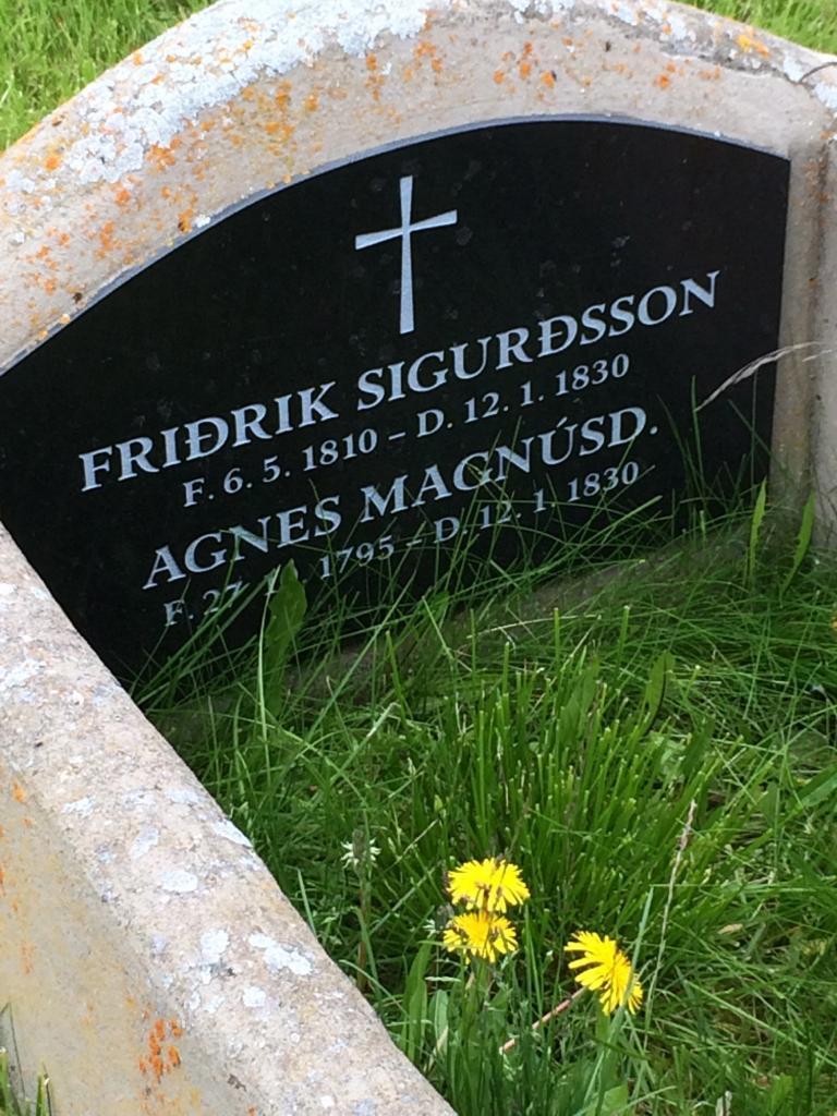 The Grave of Agnes Magnusdottir and Fridrik Sigurdsson (photo credit: Alison W.)