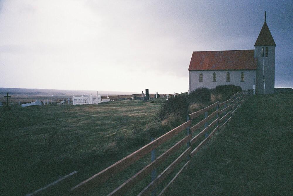 The lovely church at Laugabakki