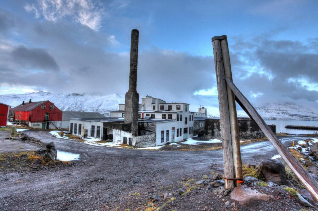 The factory at Djupavik.