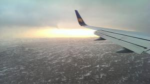On the way to Iceland.
