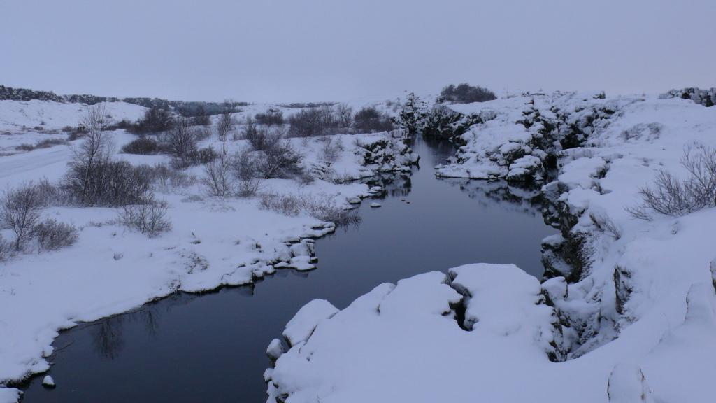 Thingvellir in the dead of winter.