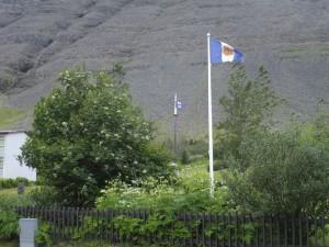 The Bildalia flag flies proudly.