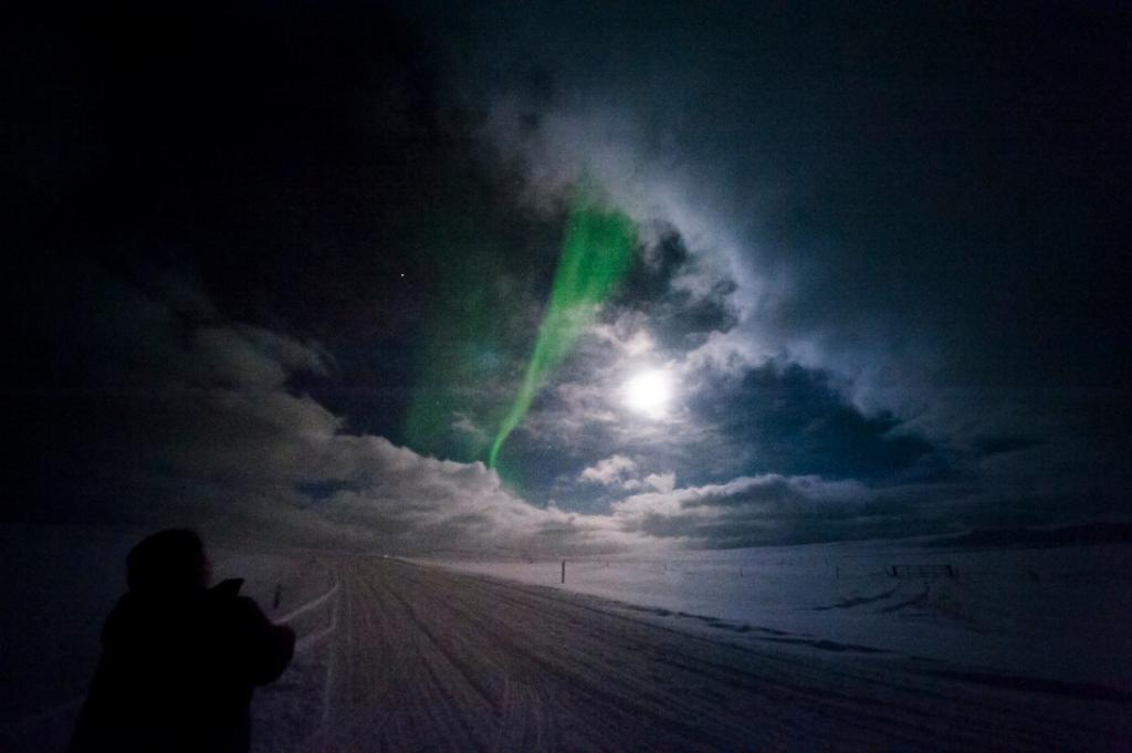 The Northern Lights make an appearance for a lucky Englishman.