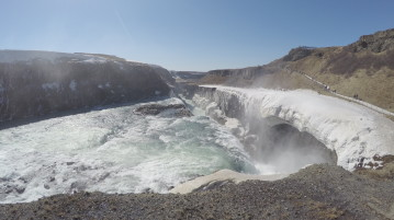 Gullfoss Waterfall is lovely in all seasons.