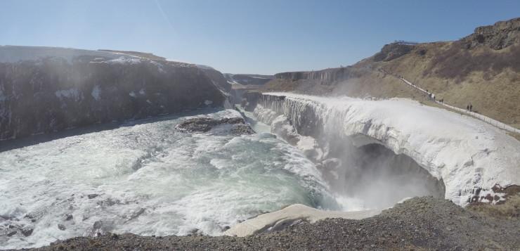 Gullfoss Waterfall is lovely in all seasons.