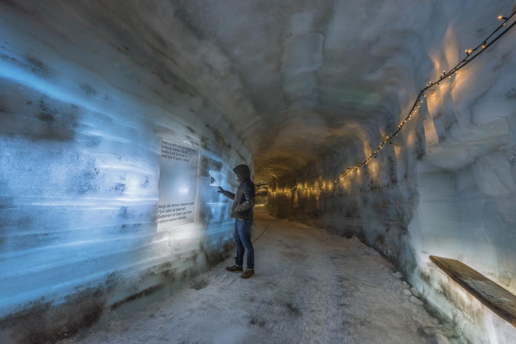 Deep inside the glacier.