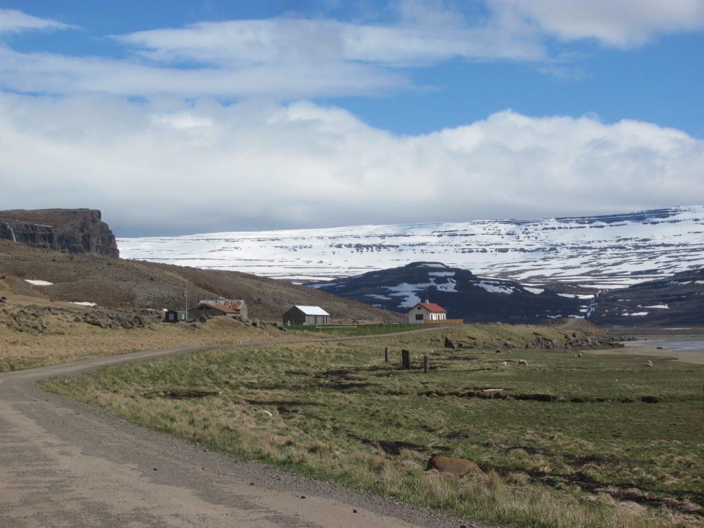 Road along a fjord.