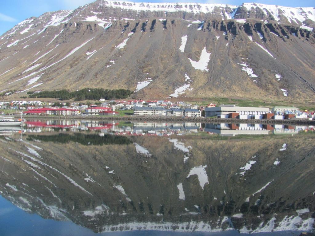 Isafjordur town.