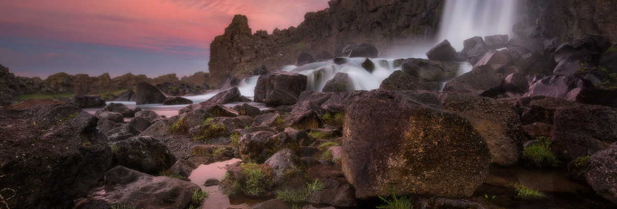 Oxararfoss at Thingvellir. It was created by the viking settlers. Honest.