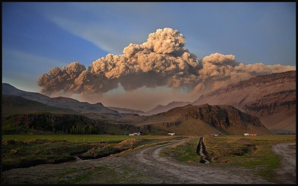 Eyjafjallajökull erupting.