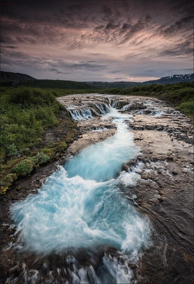 Brúarfoss waterfall.