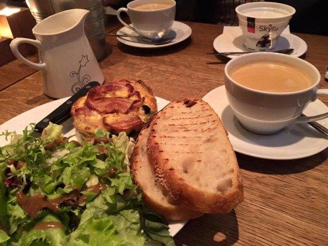 Lovely breakfast at Sandholt bakery.