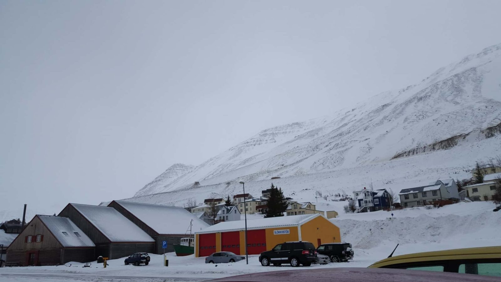 Accidental Iceland road trip can take you wonderful places. This is  Siglufjörður in winter.