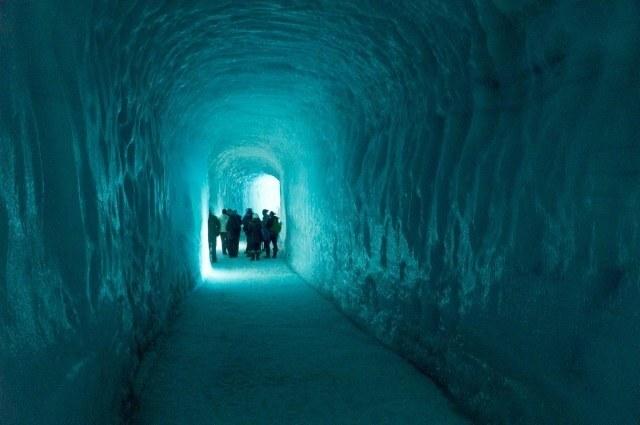Mystical ice cave.
