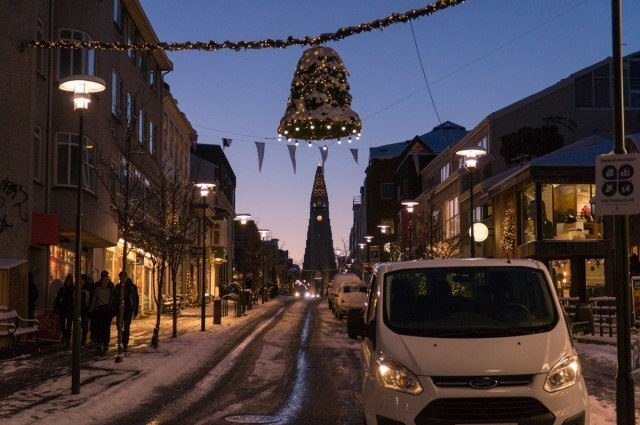 Reykjavik in its Christmas outfit.