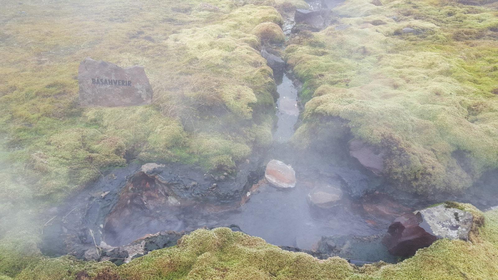 Hot spring at the secret lagoon.