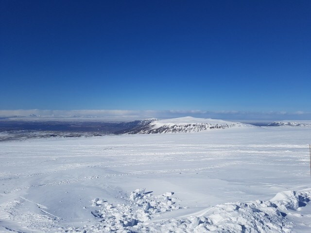 The view from Langjökull glacier.