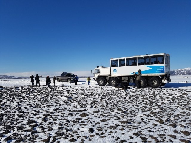 The awesome truck that took us up to the glacier.