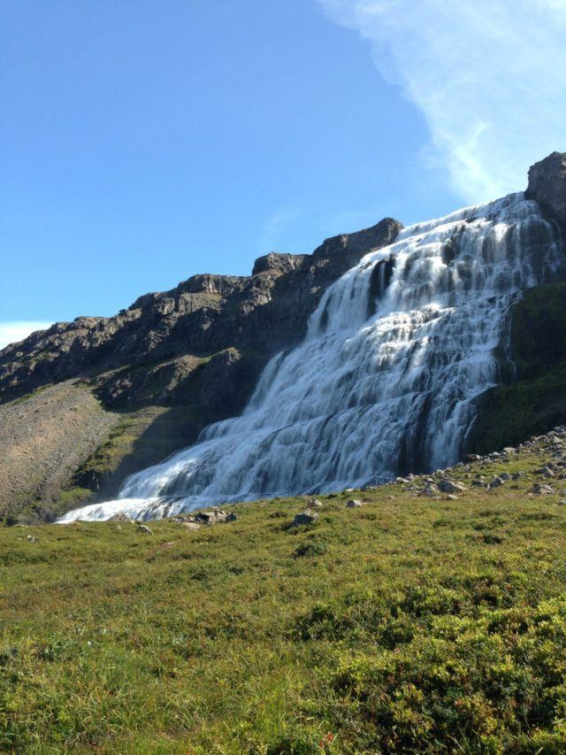Dynjandi is one of the most impressive waterfalls in Iceland. It can be found in the Westfjords of Iceland.