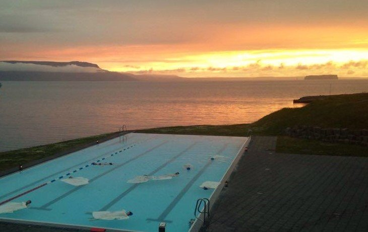 Floating in the Iceland Infinity Pool.