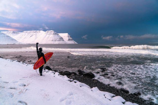Winter? Freezing weather? No problem. Let´s surf! Photo by Chris Burkard.