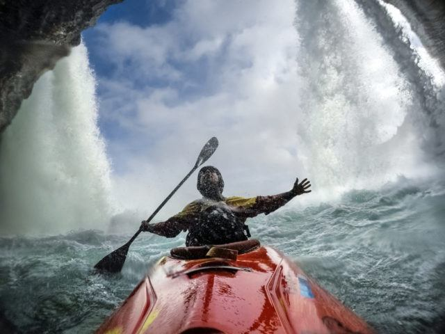 The thrill of kayaking in Iceland.