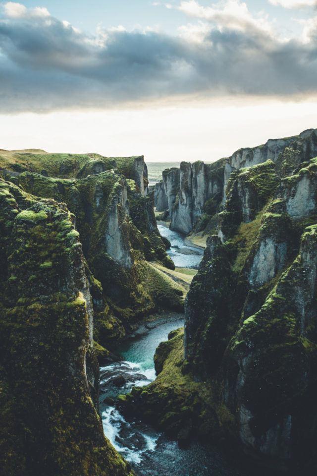 Fjadrargljufur canyon in Iceland.