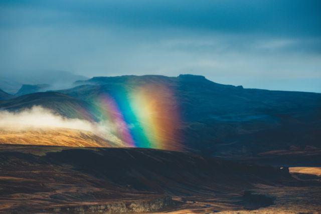 Rainbow in Iceland.