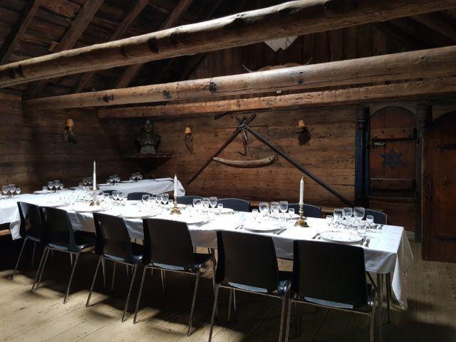 Inside the medieval hall at Kirkjubøur in the Faroe Islands.