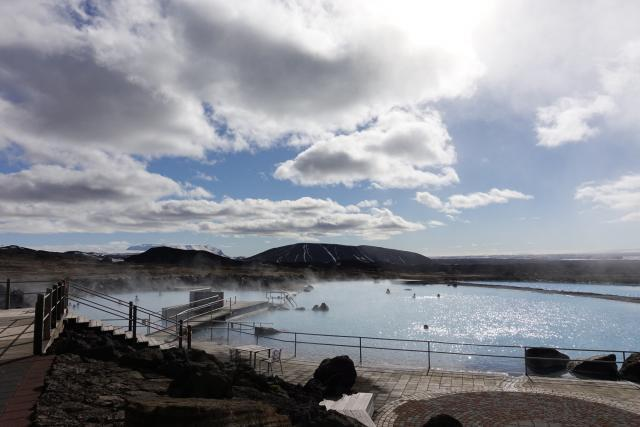 Nice day at the Lake Myvatn Nature baths.