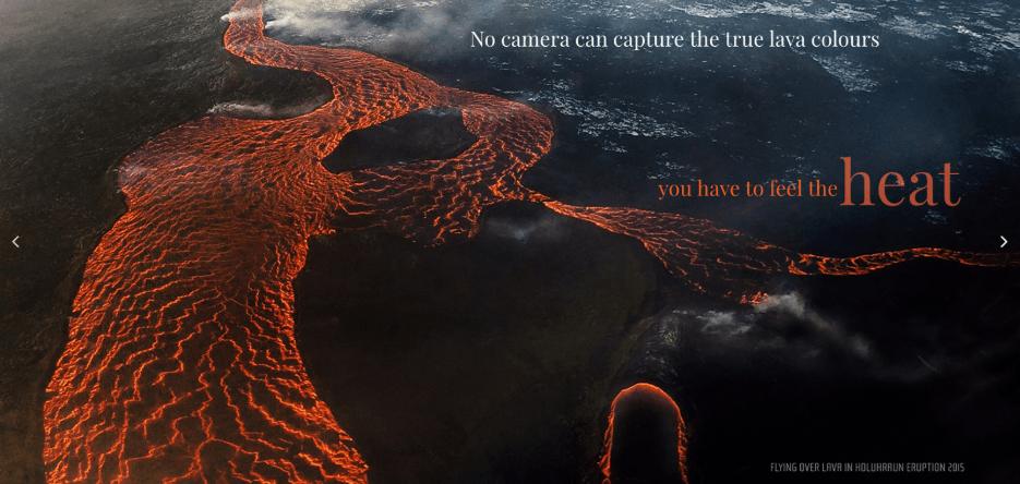 2015 eruption in Holuhraun, north Iceland (snapshot from website)