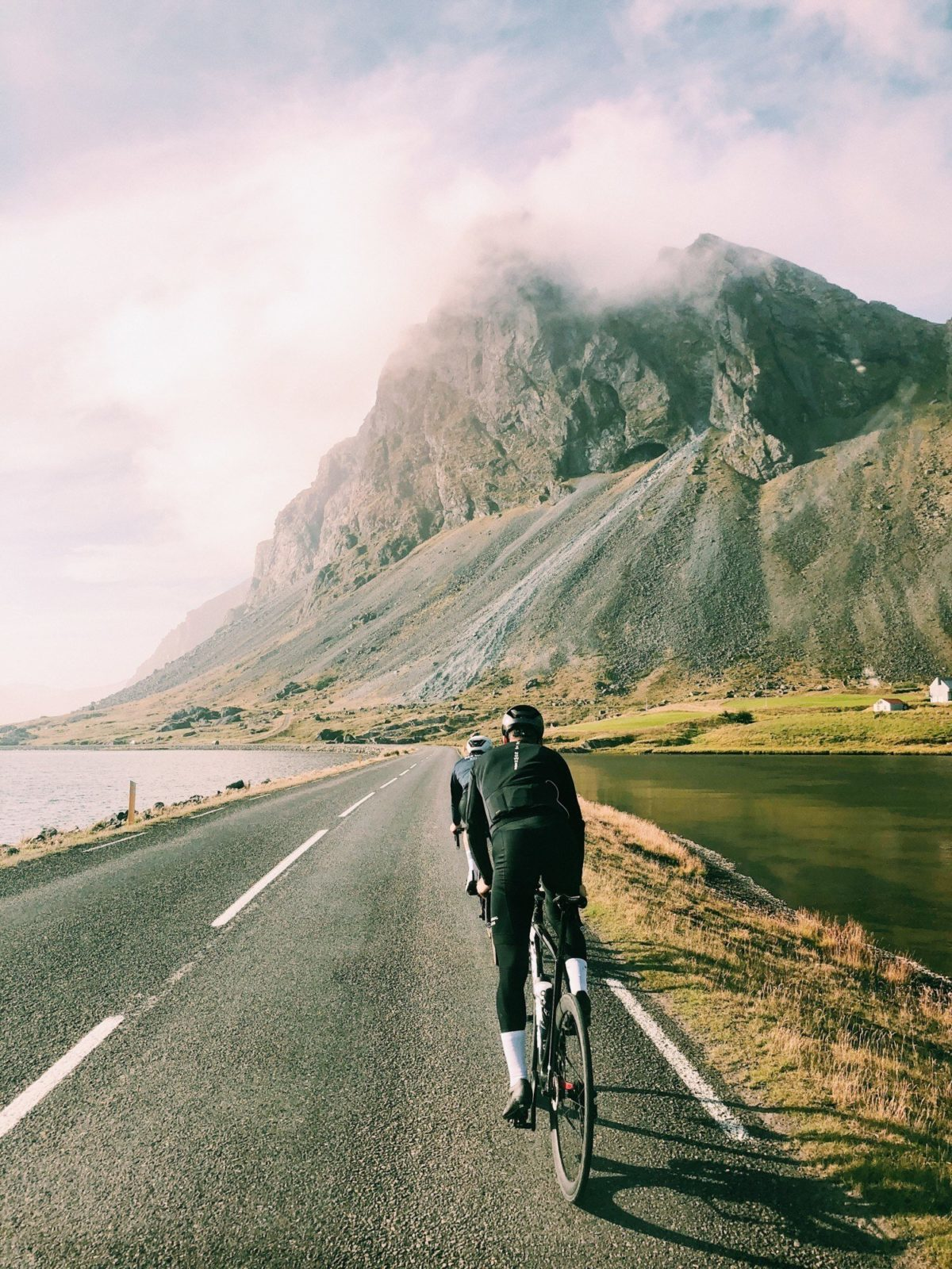 Cycling in Iceland.