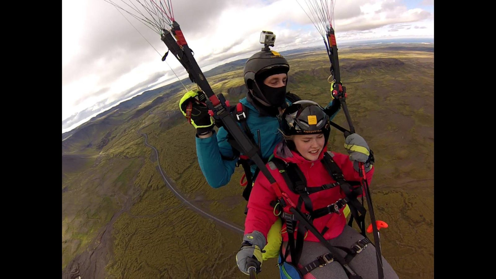 Tandem Paragliding in Iceland.