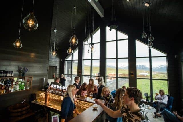 Bar at the beer spa in Iceland.