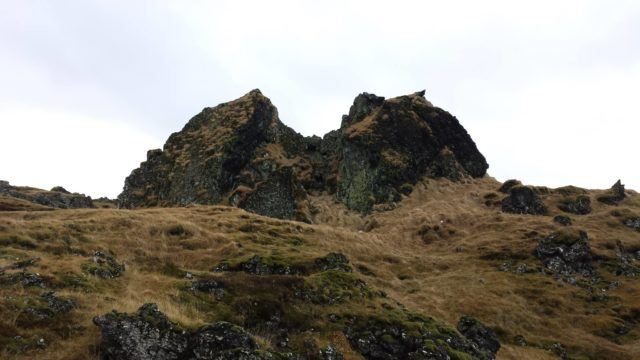 Gálgaklettar rock formation in Gálgahrauni lava field.