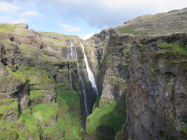Glymur waterfall.