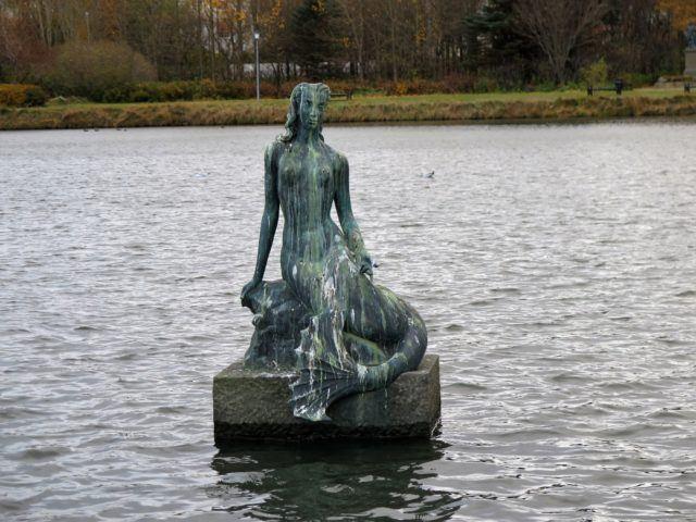 The mermaid in Reykjavik pond.