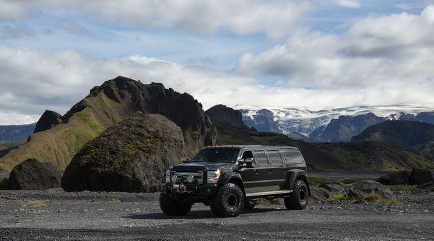 Truck in Thorsmork in Iceland