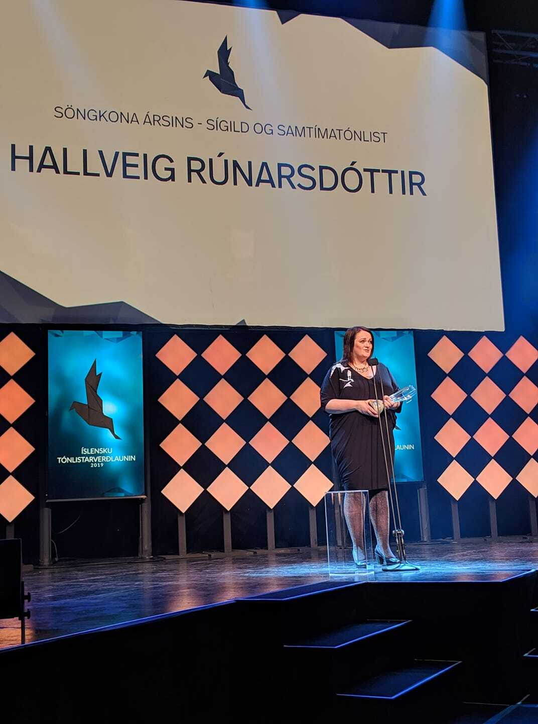 Hallveig Runarsottir, Icelandic soprano singer and winner at the 2019 Icelandic Music Awards